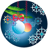 Background with Christmas toys Stock Images