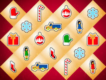 Background with Christmas toys Royalty Free Stock Image