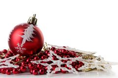 A background of christmas toys composition Stock Photography