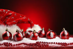 A background of christmas toys composition Royalty Free Stock Images