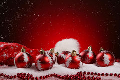 A background of christmas toys composition Stock Photo