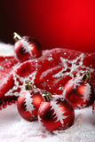 A background of christmas toys composition Royalty Free Stock Image