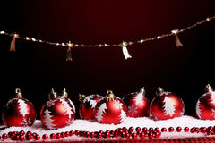 A background of christmas toys composition Royalty Free Stock Photos