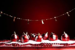 A background of christmas toys composition Stock Photos