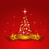 Background with Christmas tree Royalty Free Stock Image