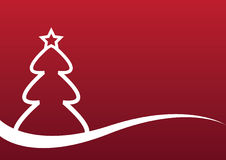 Background with Christmas tree Stock Photography