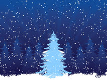 Background with christmas tree Royalty Free Stock Photo
