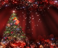 Background   Christmas tree in the background Royalty Free Stock Photo