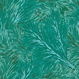 Background of Christmas tree branches seamless. Pattern in vintage color Stock Photos