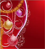 Background with Christmas tree decorations Stock Photos