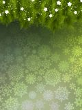 Background with christmas tree. EPS 10 Royalty Free Stock Photography