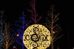 Christmas Lights. Festival christmas blur bokeh lights background royalty free stock image