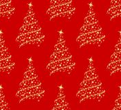 Background with Christmas tree. Seamless background with a Christmas tree Stock Images
