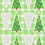 Background with Christmas tree and snowflakes.  Royalty Free Stock Image