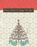 Background with christmas tree, vector Royalty Free Stock Photography