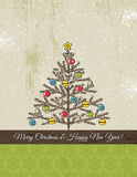 Background with christmas tree, vector Royalty Free Stock Image