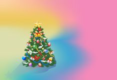 Background with Christmas tree, Stock Image