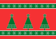 Background with christmas trees. A background consisting from christmas trees Stock Photography