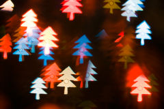 Background with Christmas trees Royalty Free Stock Photography