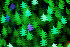 Background of Christmas trees Stock Photography