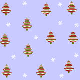 Background of Christmas trees Stock Image