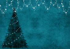 Background with chrisymas tree Royalty Free Stock Photos
