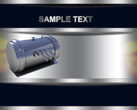 Background with chrome metal pressure vessel Stock Photos