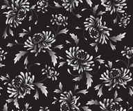Background  with  chrysanthemums. Black seamless background  with  chrysanthemums Stock Photos