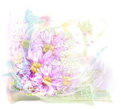 Background with chrysanthemums Royalty Free Stock Photos