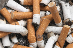 Background Of Cigarette Butts Royalty Free Stock Photos