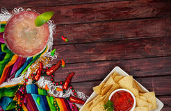 Background: Cinco De Mayo Celebration With Margarita Stock Image