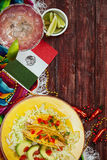 Background: Cinco De Mayo Celebration With Tacos and Margarita. Series celebrating Cinco De Mayo, with lots of copyspace. Good for advertising Stock Photo