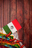 Background: Cinco De Mayo Mexican Flag Background Stock Image