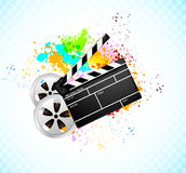 Background with cinema element Stock Photo