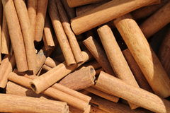 Background cinnamon. Background with cinnamon fot ingredient royalty free stock photos