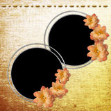 Background with circle frames Royalty Free Stock Photos