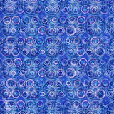 Background with Circle Mandalas in Blue Royalty Free Stock Image