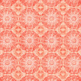 Background with Circle Mandalas in Orange Royalty Free Stock Images