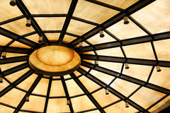 Background with circle structure under roof Stock Photography