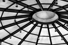 Background with circle structure under roof Royalty Free Stock Photo