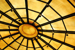 Background with circle structure under roof Royalty Free Stock Photography