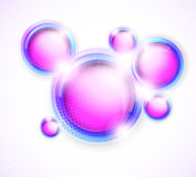 Background with circles. Abstract shiny background with pink bright circles Stock Photo