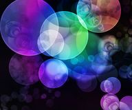 Background with circles stock illustration