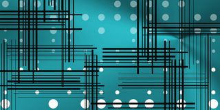 Background with circles and black lines. Image with circles and lines over metalic background. Tech space for modern concepts Stock Images