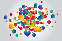 Background with circles Stock Images