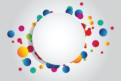 Background with circles Stock Photo