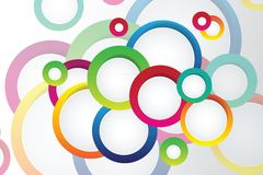 Background with circles Royalty Free Stock Photos