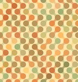 Background with circles connected by zigzag. Seamless vector. Background with circles connected by zigzag. Warm vintage colors: yellow, orange, light green Stock Illustration