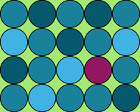 Background of circles in cool sea colors with pop  Stock Image
