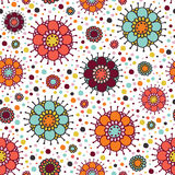 Background with circles and dots Stock Photo